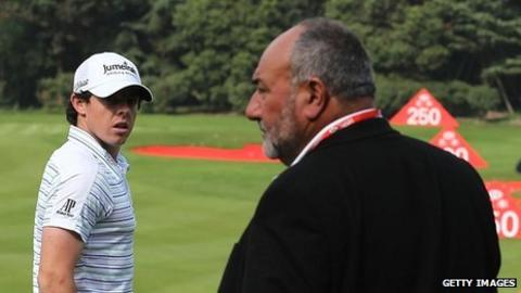 Rory McIlroy (left) and Andrew 'Chubby' Chandler