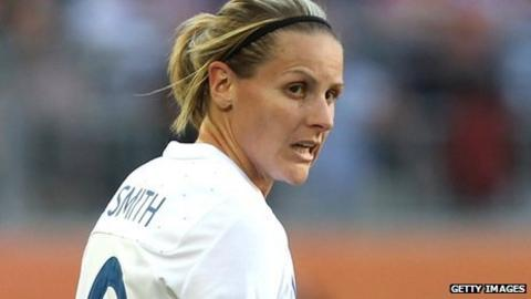 Kelly Smith playing for England