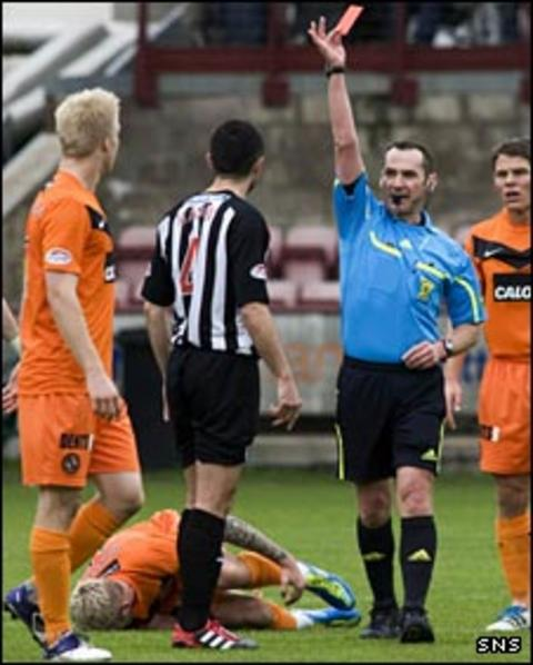 Gary Mason is sent off