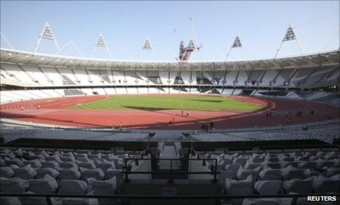The 2012 Olympic Stadium in London