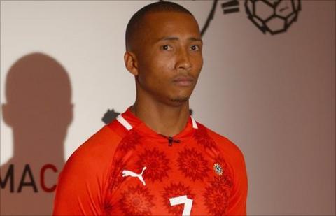 Namibia midfielder Bradley Wermann