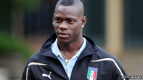 Manchester City and Italy striker Mario Balotelli