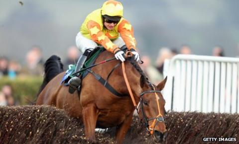 Keiran Burke rides Holmwood Legend to victory at Cheltenham in March