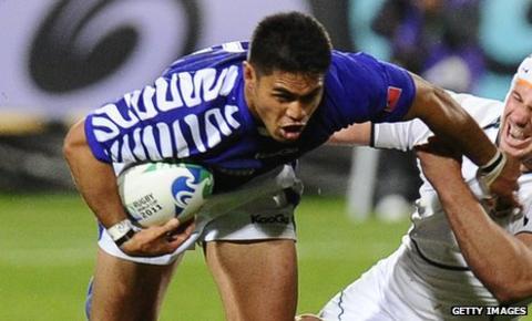 David Lemi in action for Samoa