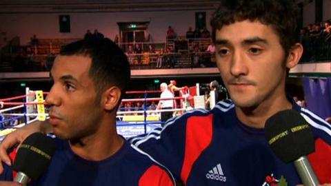 British boxers Khalid Yafai and Andrew Selby
