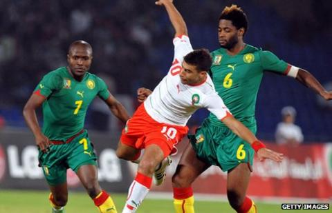 Cameroon in action against Morocco