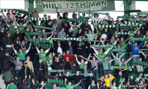 Hibs fans