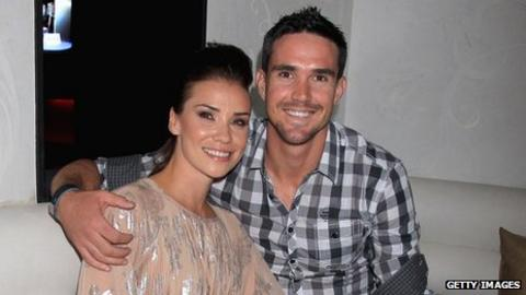 Kevin Pietersen with wife Jessica