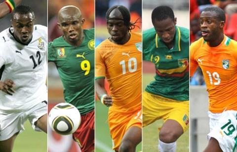 Andre 'Dede' Ayew, Samuel Eto'o, Gervinho, Seydou Keita and Yaya Toure