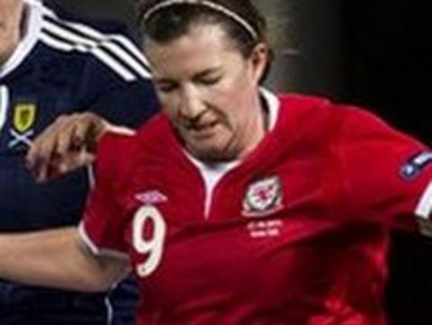 Wales striker Helen Lander