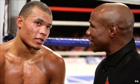 Chris Eubank Jr (left) and Chris Eubank Sr