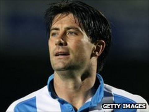 Huddersfield striker Alan Lee