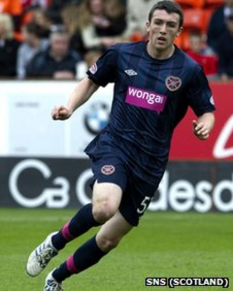 David Smith in action for Hearts