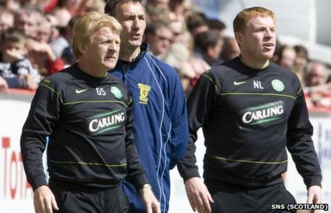 Gordon Strachan and Neil Lennon