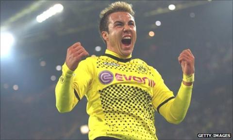 Mario Gotze of Borussia Dortmund