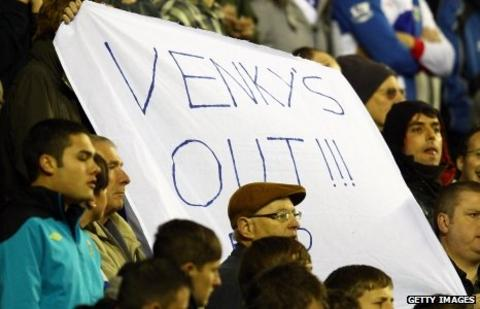 Blackburn fans protest