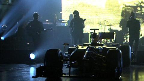 Kasabian provide the music for the BBC's 2011 F1 season closer