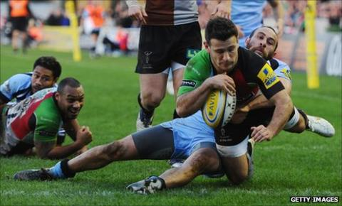 Danny Care scores a Harlequins try