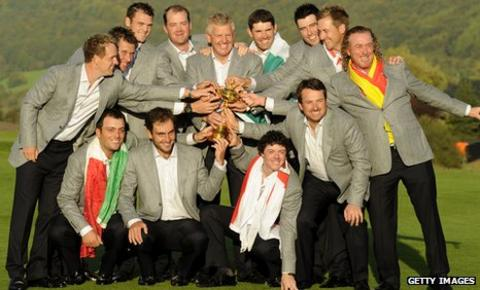 Europe win the 2010 Ryder Cup