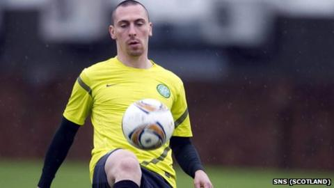 Celtic midfielder Scott Brown