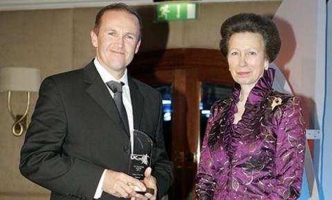 Andy Flower (left) and Her Royal Highness Princess Royal