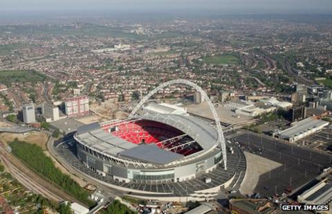 London's Wembley Stadium