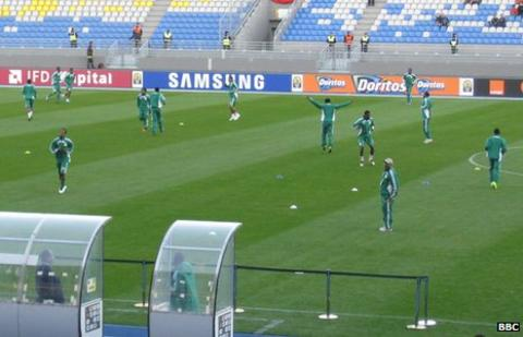 Nigeria train in Tangiers