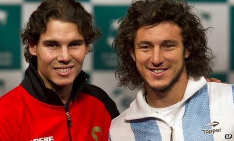 Rafael Nadal and Juan Monaco