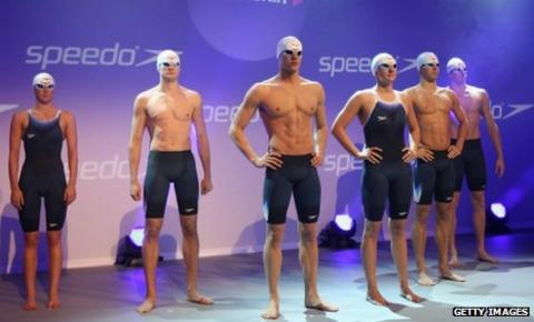 Rebecca Adlington (third from right) was a leading figure in the launch of the new suit in London