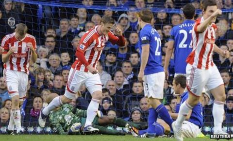German defender Robert Huth struck after 15 minutes of the match