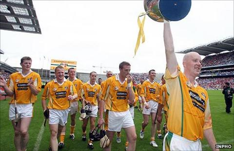 Karl McKeegan led Antrim to success in the 2006 Christy Ring Cup final