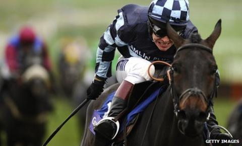 Jockey Richard Johnson on Menorah
