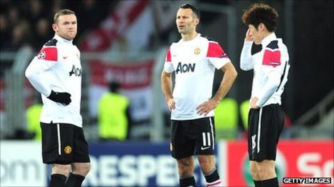 Wayne Rooney, Ryan Giggs and Park Ji-Sung