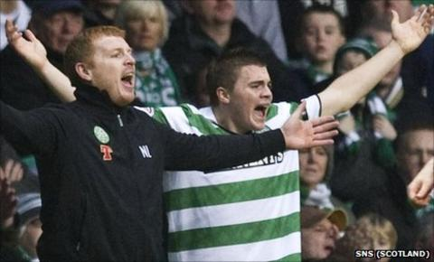 Neil Lennon and James Forrest