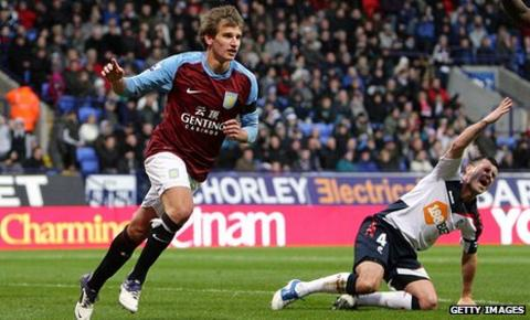 Marc Albrighton scored his eighth career goal for Aston Villa