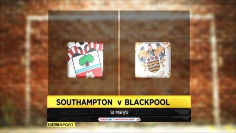 Southampton 2-2 Blackpool