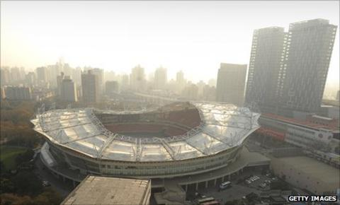 The Hongkou Stadium where Shanghai Shenhua play their home games
