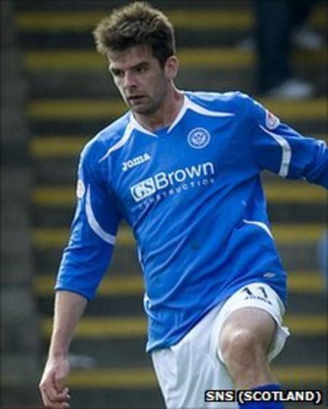 St Johnstone striker Cillian Sheridan