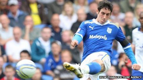 Cardiff City midfielder Peter Whittingham