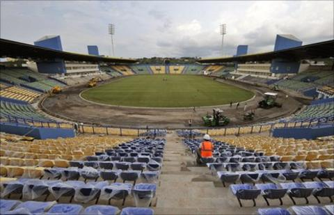 The Franceville Stadium in Gabon