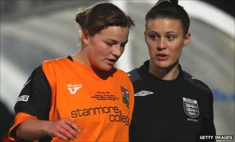 Stacey Sowden opened the scoring for Barnet against Charlton