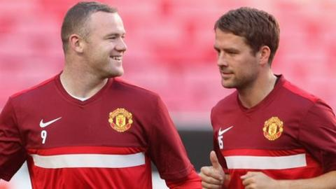Wayne Rooney and Michael Owen