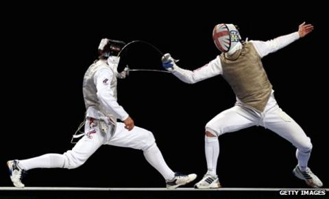 Jamie Kenber (right) in action at the Olympic test event