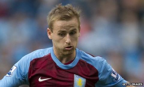 Aston Villa midfielder Barry Bannan