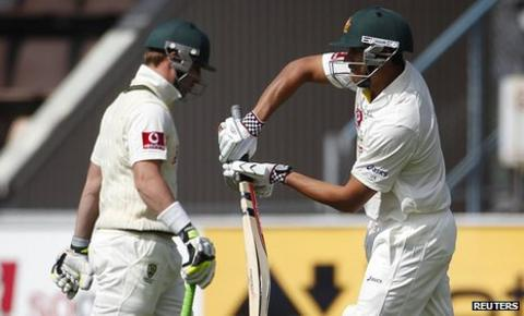 Phillip Hughes and Usman Khawaja