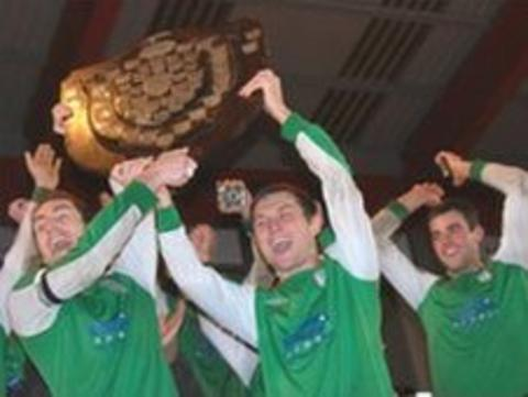 St Lawrence celebrate with the Trinity Shield