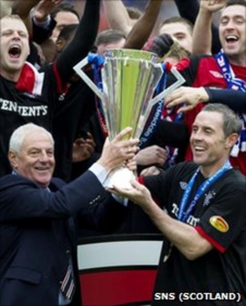 Walter Smith and David Weir lift SPL trophy