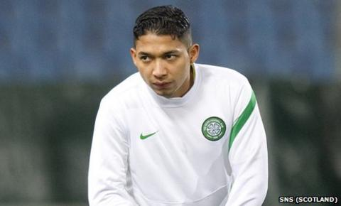 Celtic left-back Emilio Izaguirre