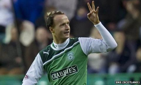 Leigh Griffiths has been with Hibs since August