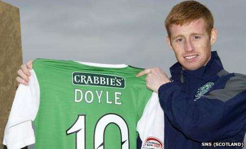 New Hibs striker Eoin Doyle